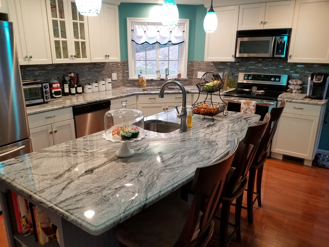 Countertops By Superior Viscont White Kitchen
